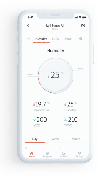 Mill Sense Air app